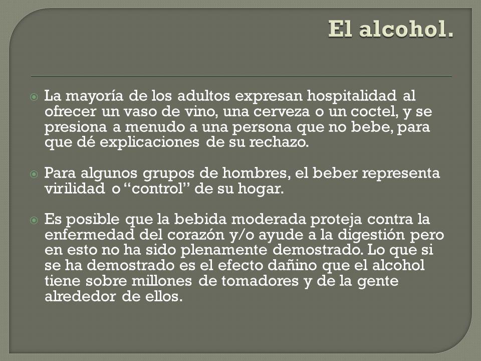 El alcohol.