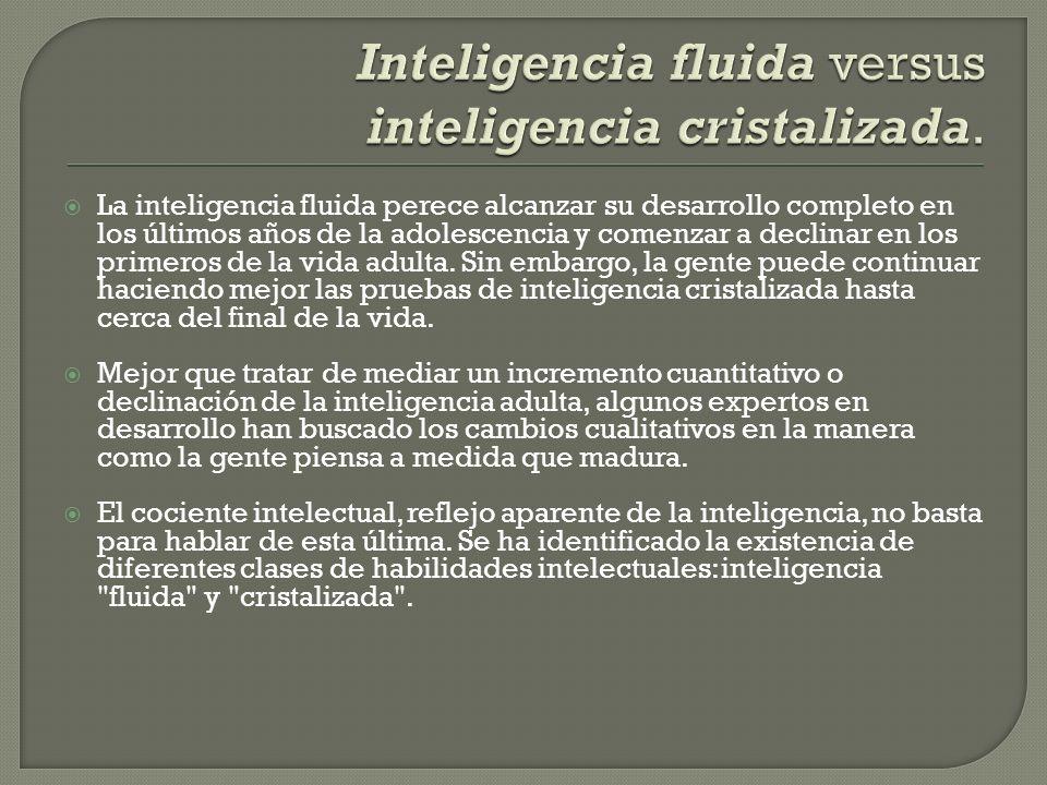 Inteligencia fluida versus inteligencia cristalizada.