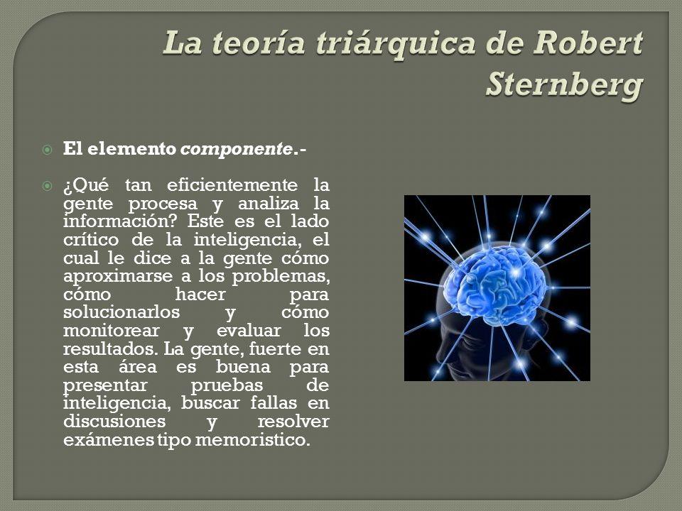 La teoría triárquica de Robert Sternberg