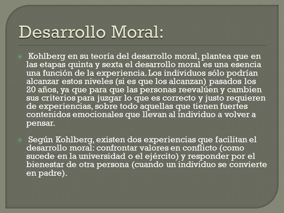 Desarrollo Moral: