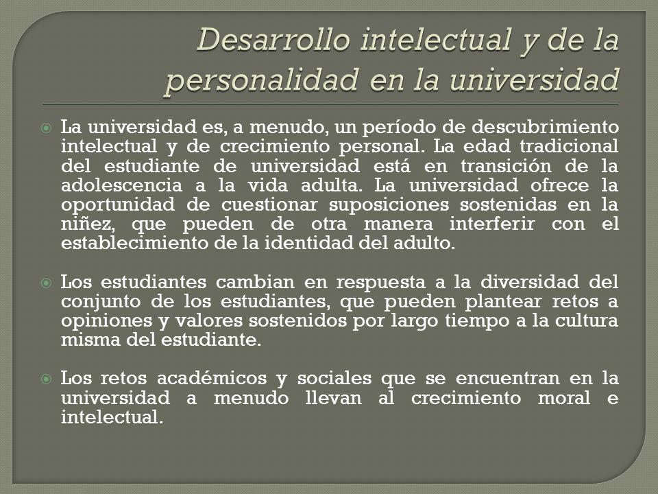 Desarrollo intelectual y de la personalidad en la universidad