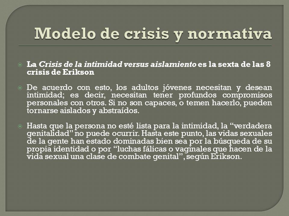 Modelo de crisis y normativa