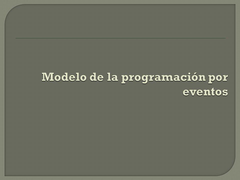 Modelo de la programación por eventos