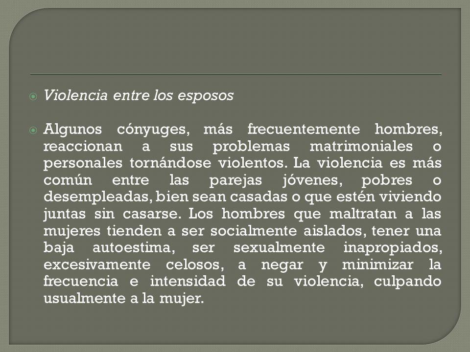 Violencia entre los esposos