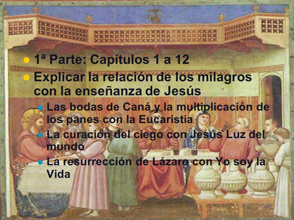 Explicar la relación de los milagros con la enseñanza de Jesús