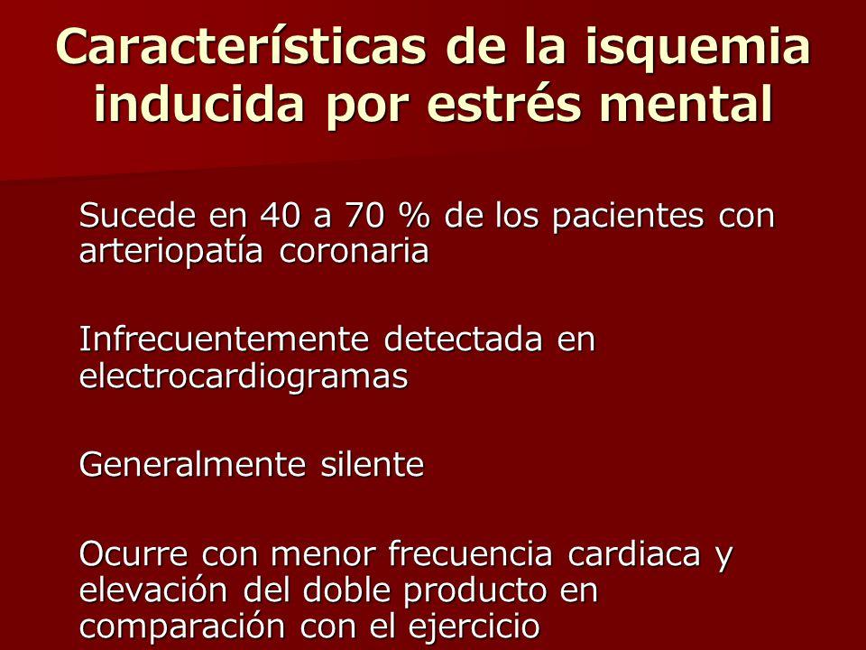 Características de la isquemia inducida por estrés mental