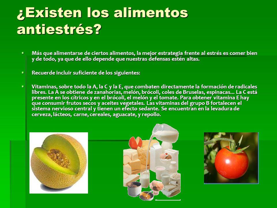 ¿Existen los alimentos antiestrés