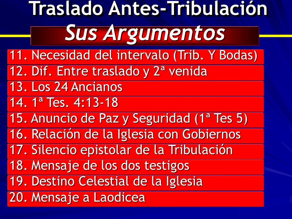 Traslado Antes-Tribulación