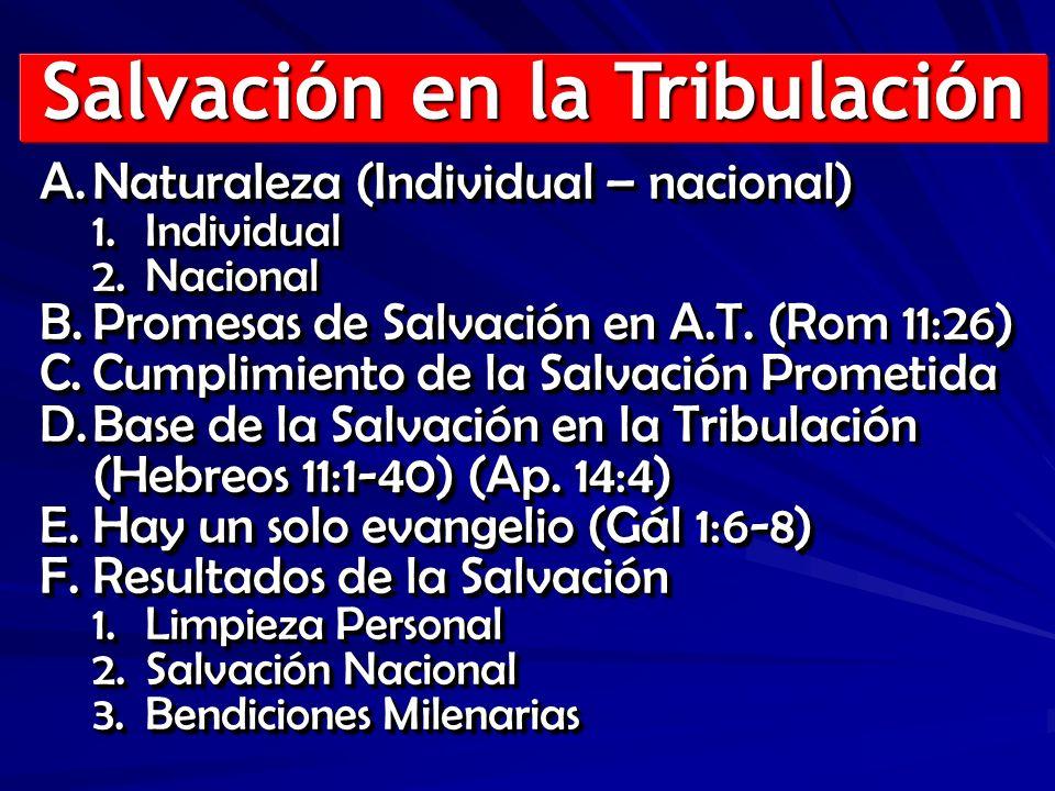 Salvación en la Tribulación