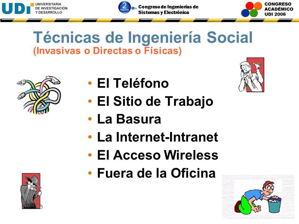 Técnicas de Ingeniería Social (Invasivas o Directas o Físicas)
