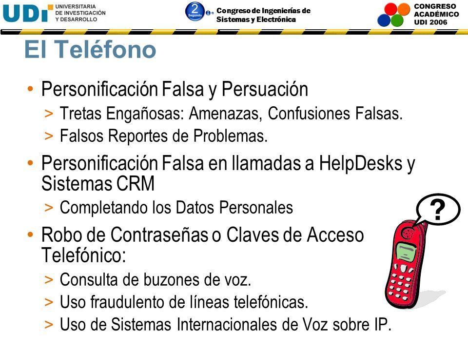 El Teléfono Personificación Falsa y Persuación