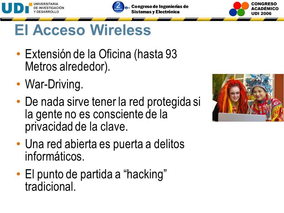 El Acceso Wireless Extensión de la Oficina (hasta 93 Metros alrededor). War-Driving.