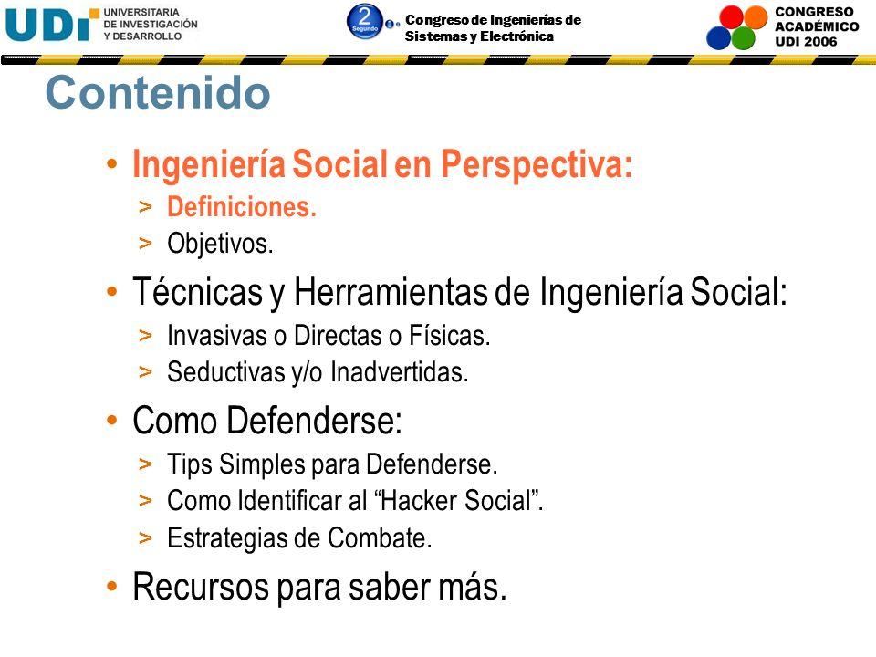 Contenido Ingeniería Social en Perspectiva: