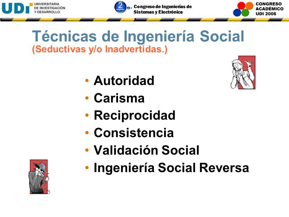 Técnicas de Ingeniería Social (Seductivas y/o Inadvertidas.)