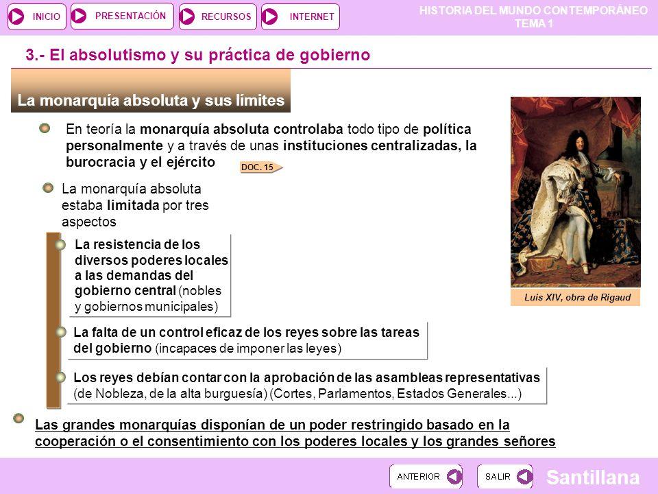 3.- El absolutismo y su práctica de gobierno