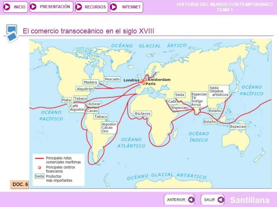 El comercio transoceánico en el siglo XVIII