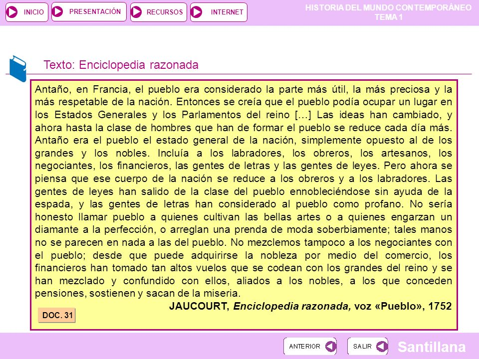 Texto: Enciclopedia razonada