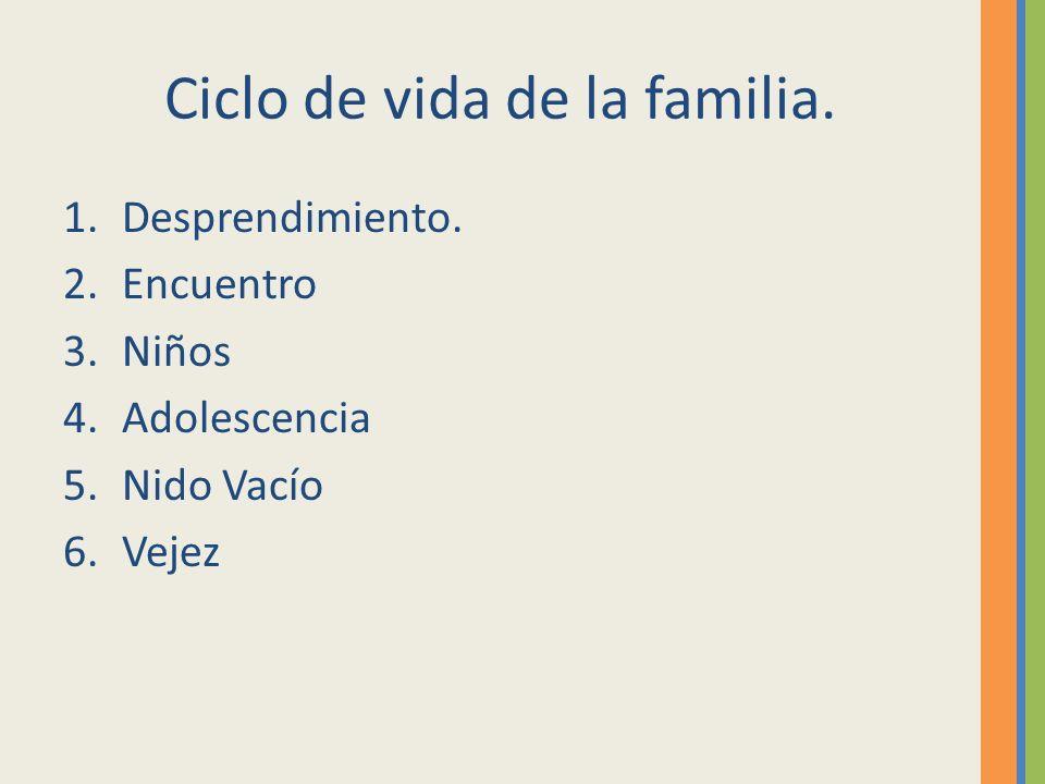 Ciclo de vida de la familia.