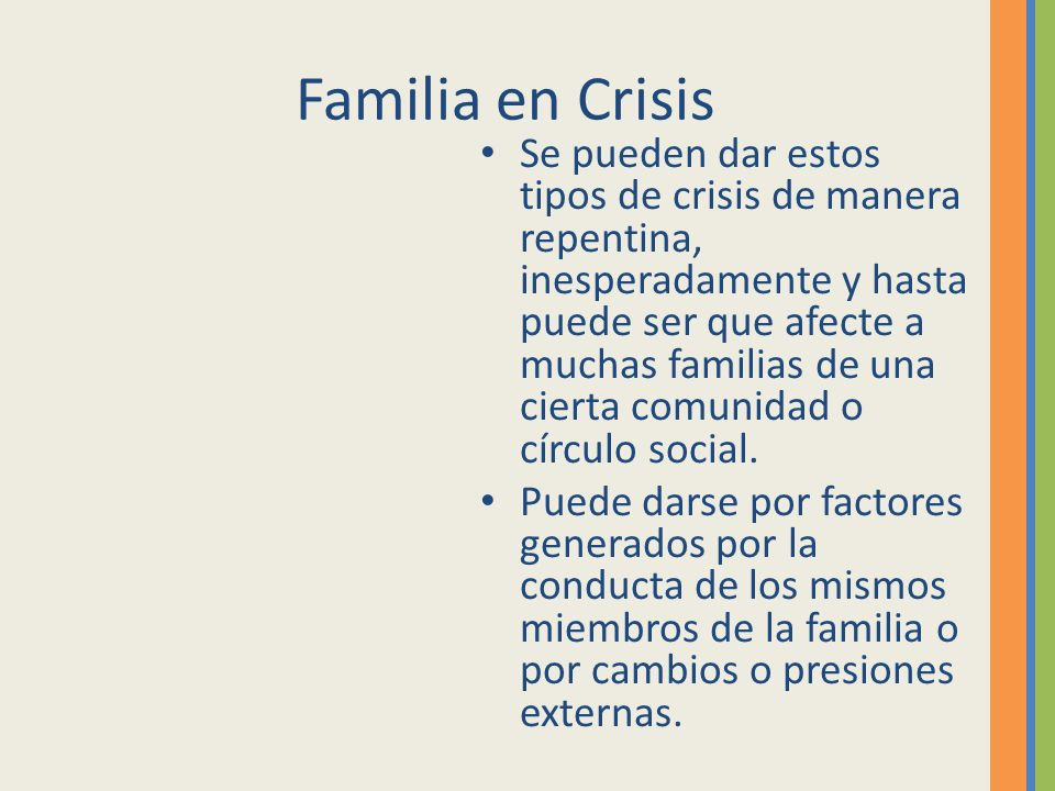 Familia en Crisis