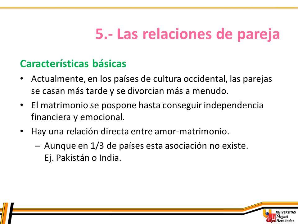 5.- Las relaciones de pareja