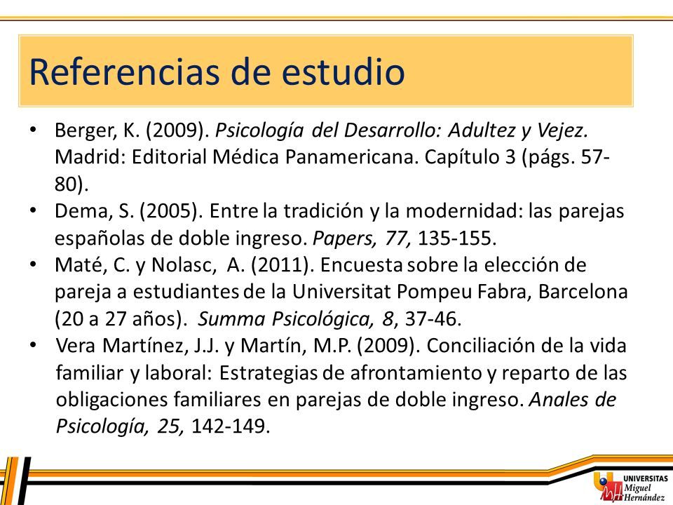 Referencias de estudio