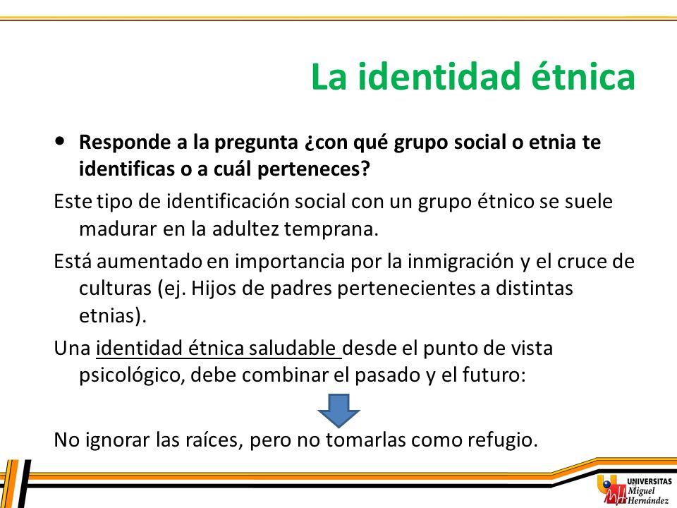 La identidad étnica Responde a la pregunta ¿con qué grupo social o etnia te identificas o a cuál perteneces