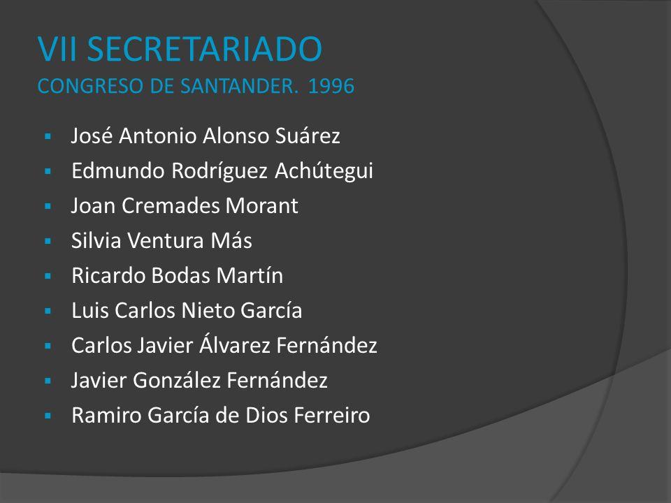VII SECRETARIADO CONGRESO DE SANTANDER. 1996