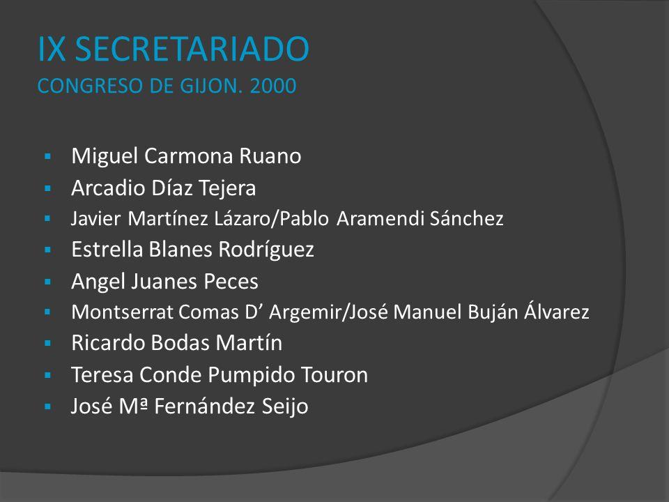 IX SECRETARIADO CONGRESO DE GIJON. 2000