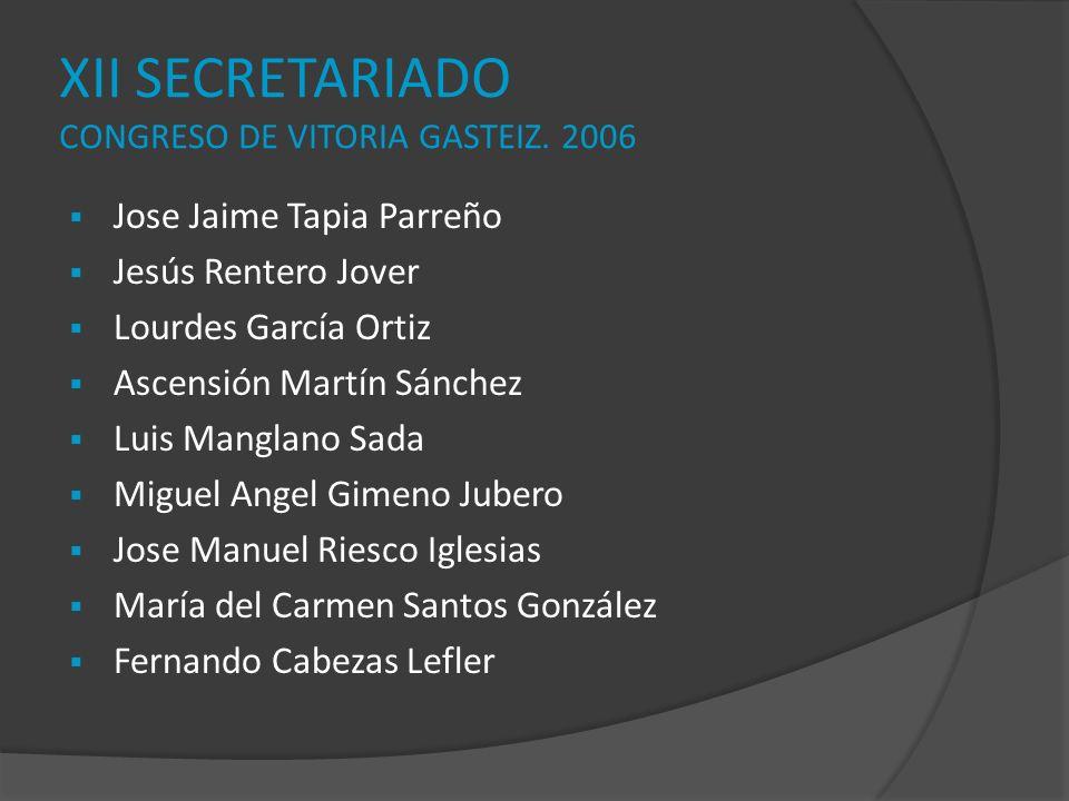 XII SECRETARIADO CONGRESO DE VITORIA GASTEIZ. 2006