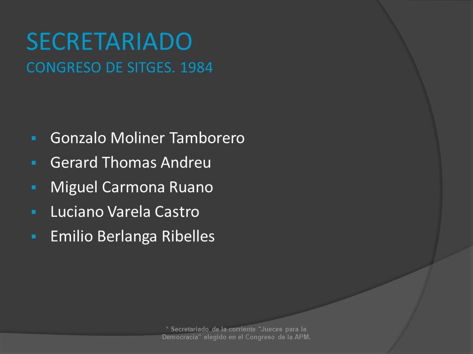 SECRETARIADO CONGRESO DE SITGES. 1984