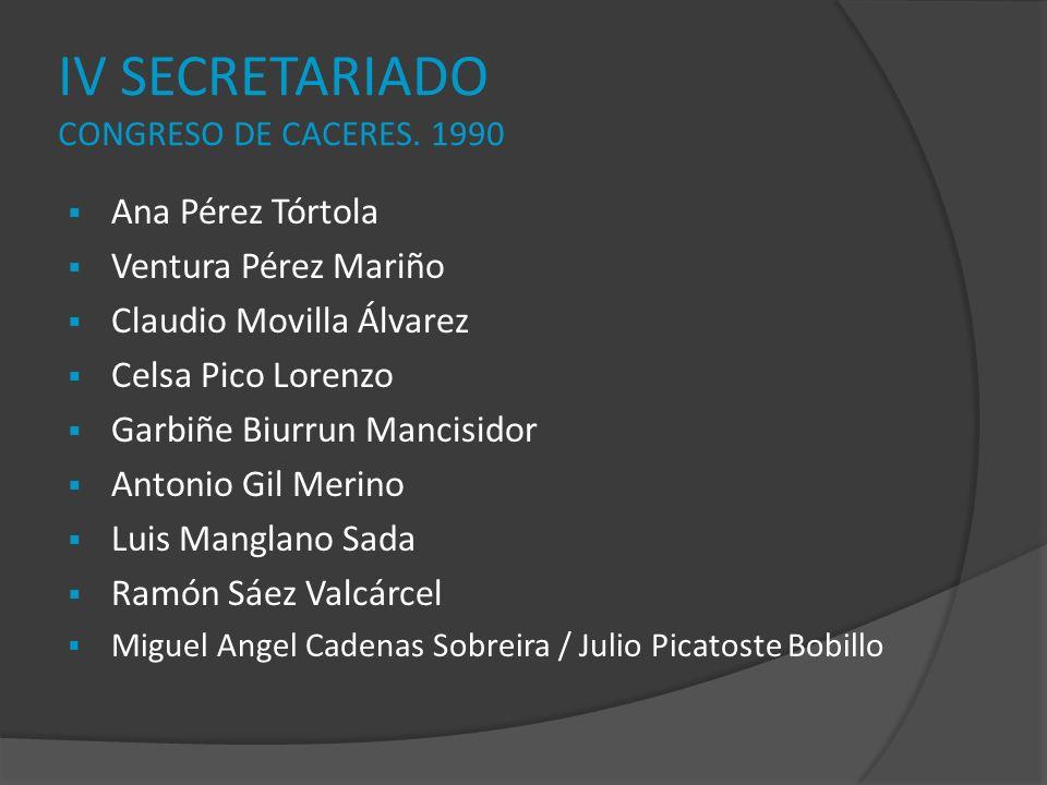 IV SECRETARIADO CONGRESO DE CACERES. 1990