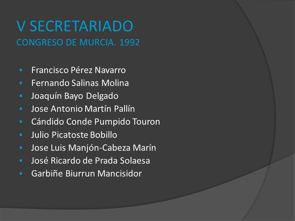 V SECRETARIADO CONGRESO DE MURCIA. 1992