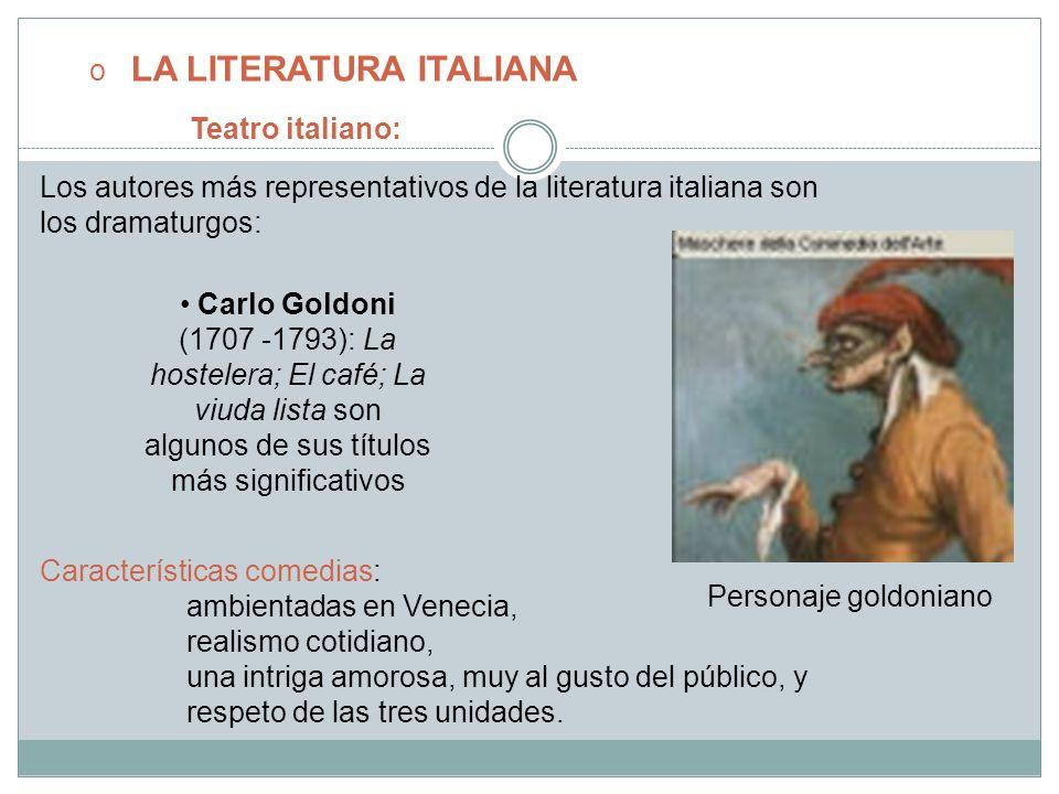 LA LITERATURA ITALIANA