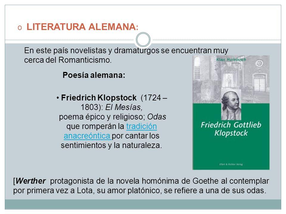 Friedrich Klopstock (1724 – 1803): El Mesías,