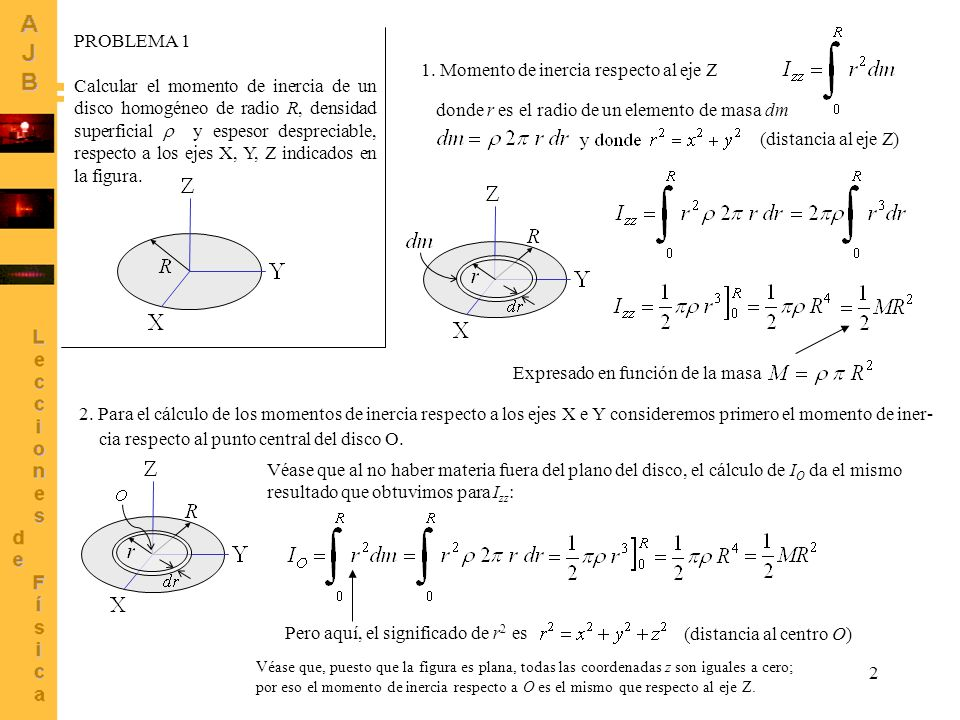 1. Momento de inercia respecto al eje Z