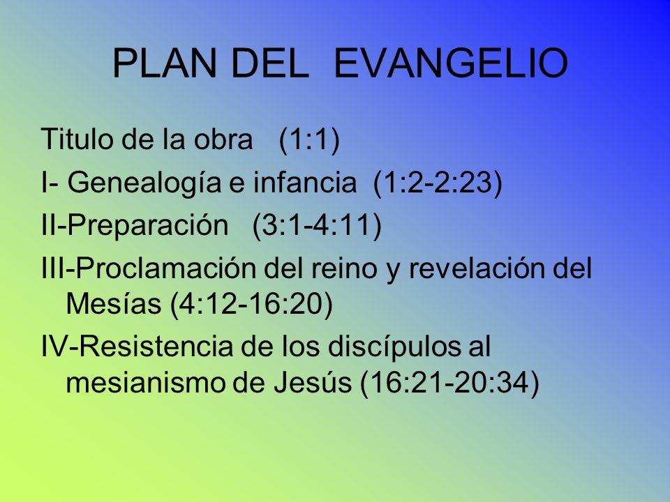 PLAN DEL EVANGELIO Titulo de la obra (1:1)