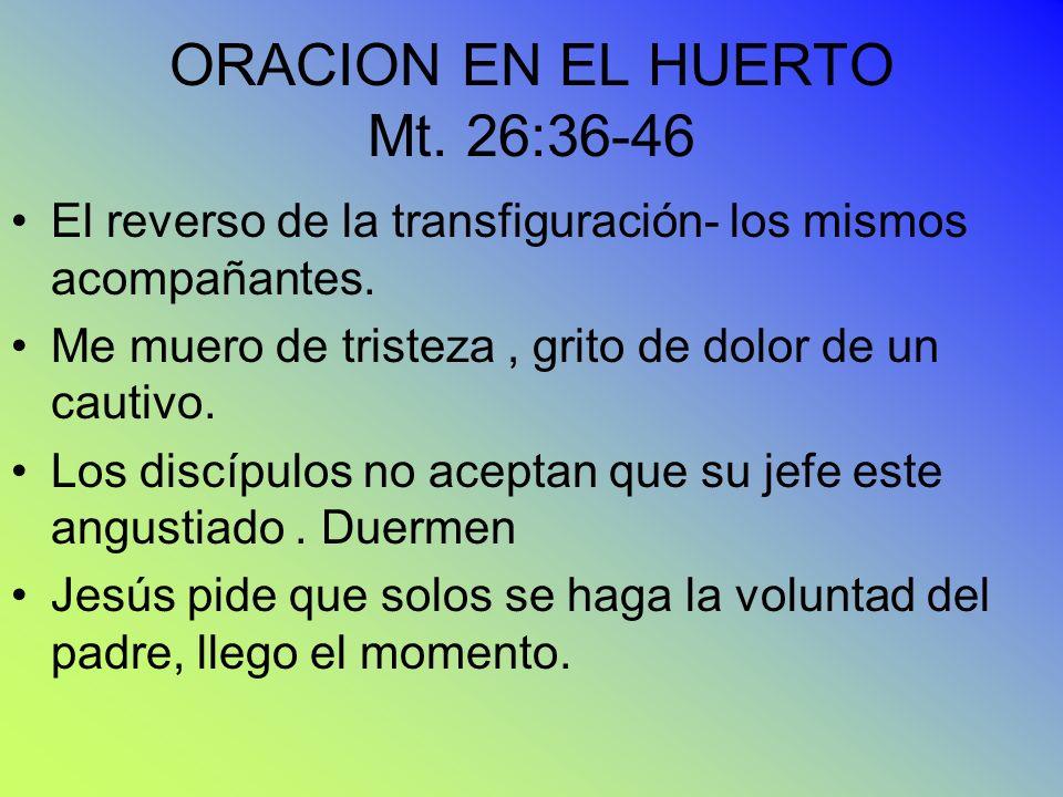ORACION EN EL HUERTO Mt. 26:36-46