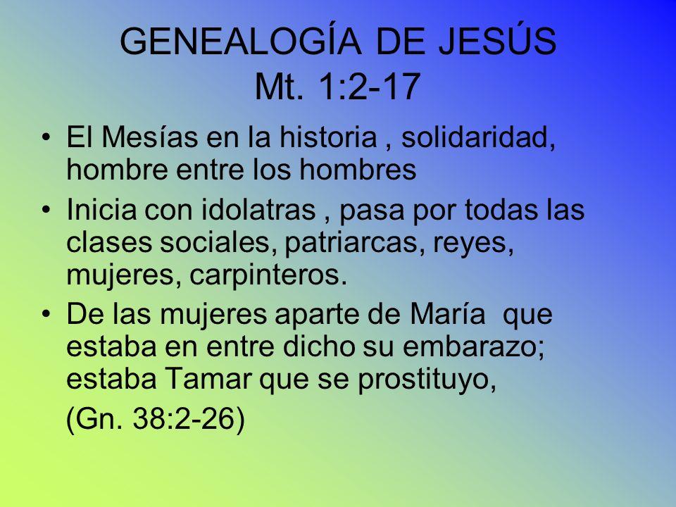 GENEALOGÍA DE JESÚS Mt. 1:2-17