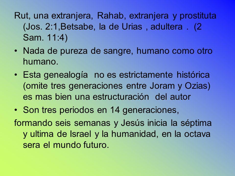 Rut, una extranjera, Rahab, extranjera y prostituta (Jos