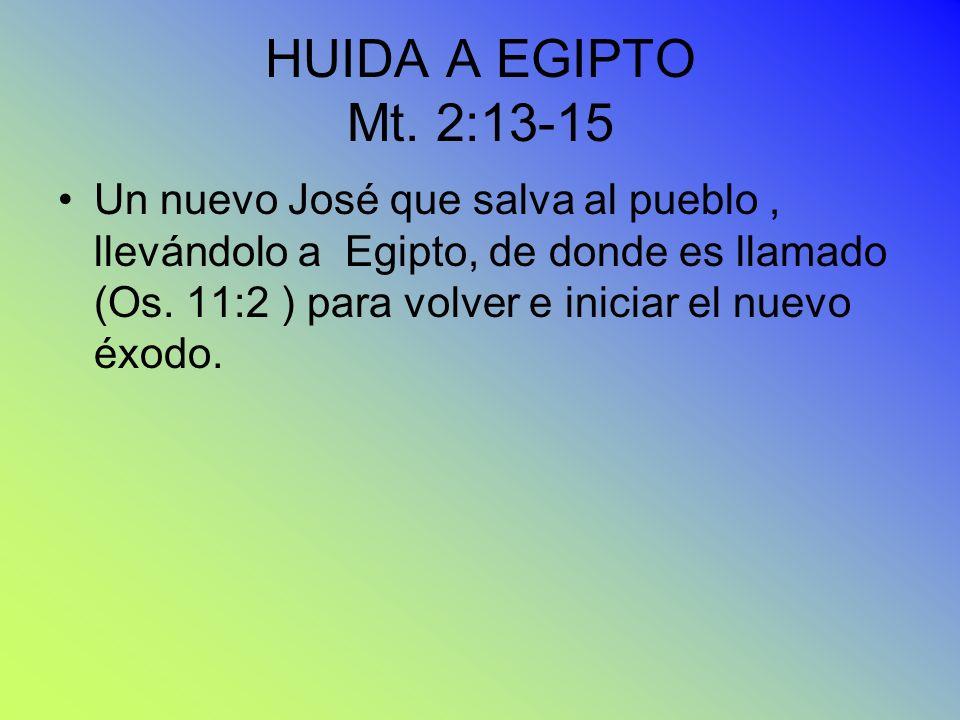 HUIDA A EGIPTO Mt. 2:13-15