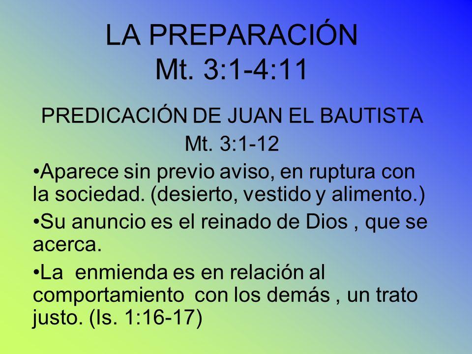 PREDICACIÓN DE JUAN EL BAUTISTA