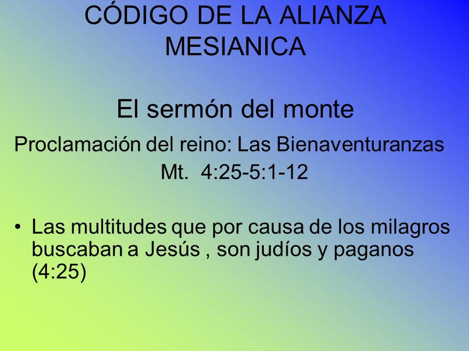 CÓDIGO DE LA ALIANZA MESIANICA El sermón del monte