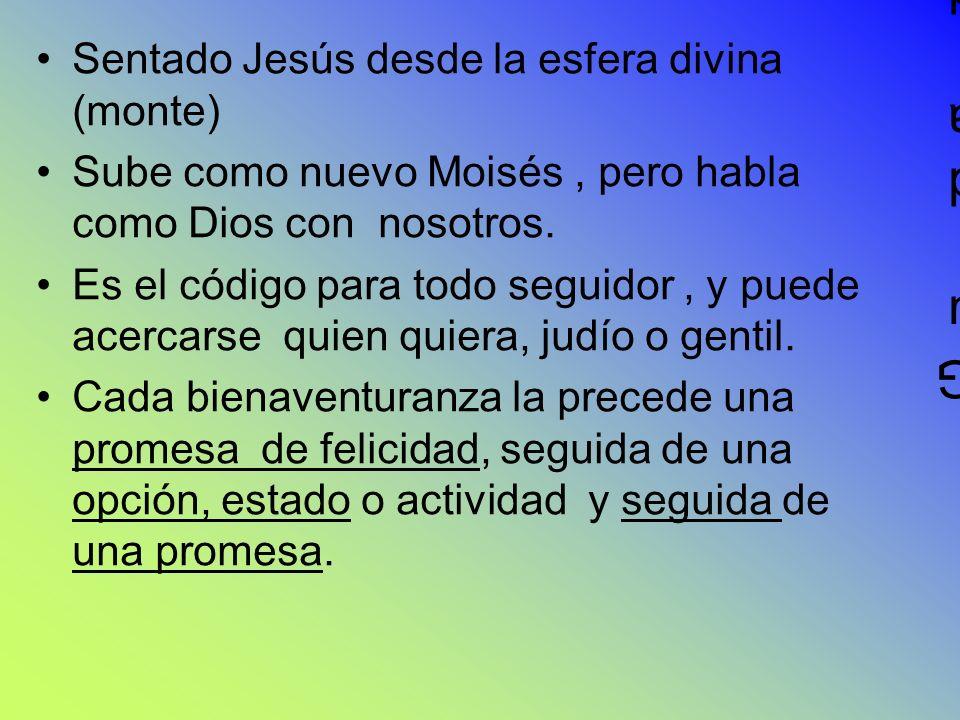 Guida de una Sentado Jesús desde la esfera divina (monte)