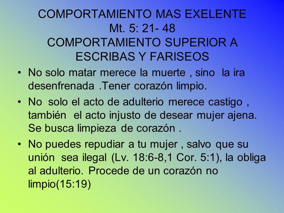 COMPORTAMIENTO MAS EXELENTE Mt