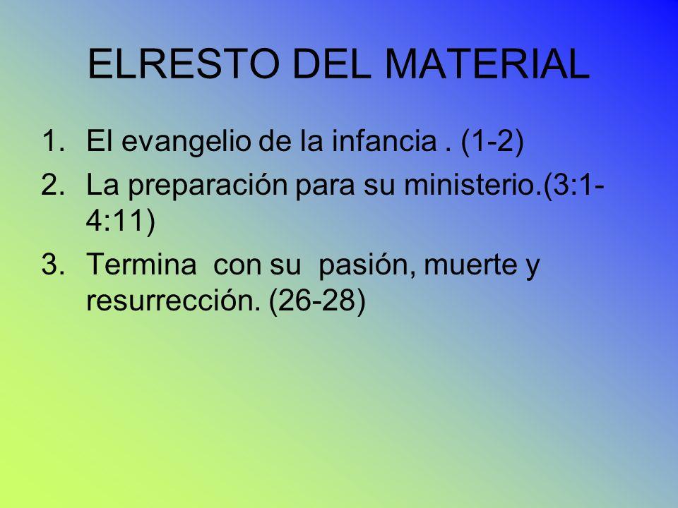 ELRESTO DEL MATERIAL El evangelio de la infancia . (1-2)