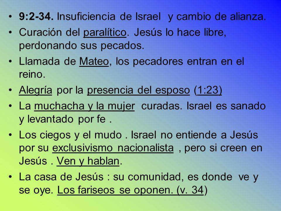 9:2-34. Insuficiencia de Israel y cambio de alianza.