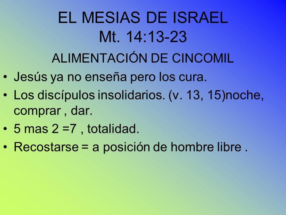 EL MESIAS DE ISRAEL Mt. 14:13-23