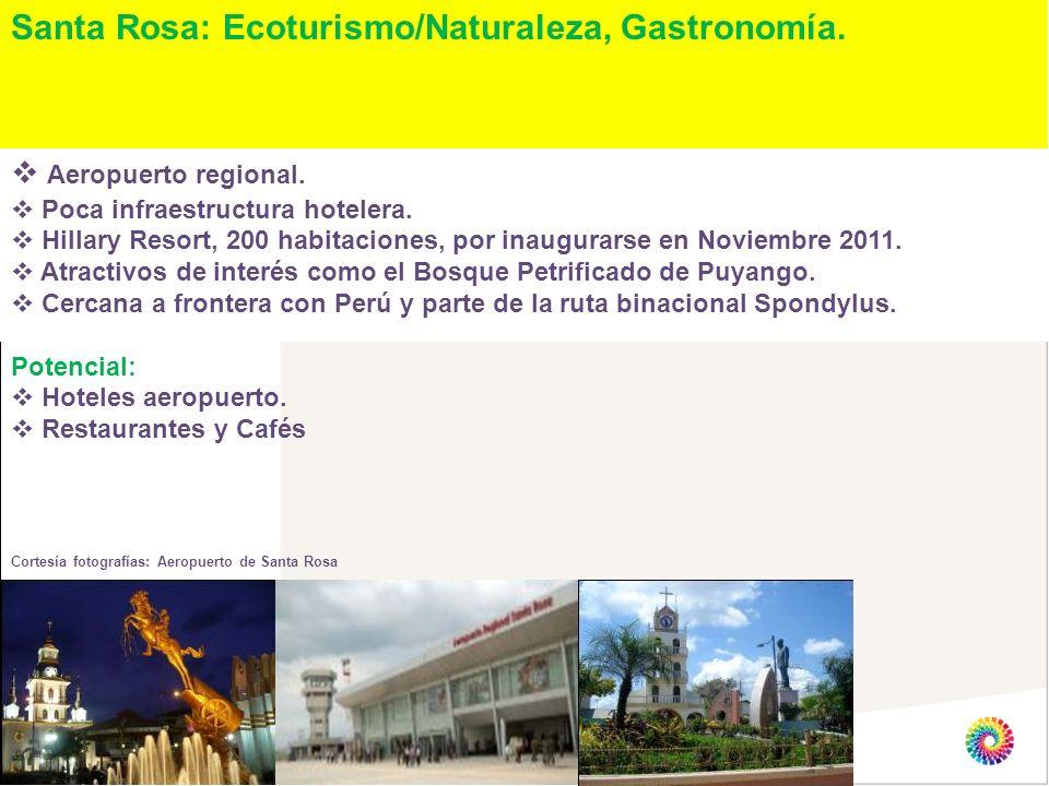 Santa Rosa: Ecoturismo/Naturaleza, Gastronomía.