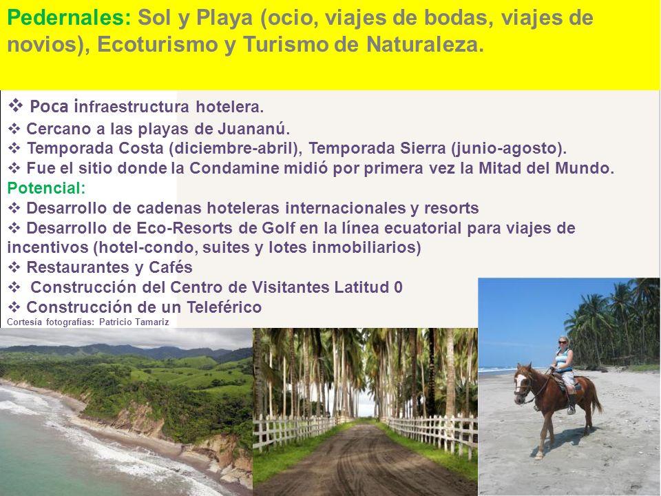 Pedernales: Sol y Playa (ocio, viajes de bodas, viajes de novios), Ecoturismo y Turismo de Naturaleza.