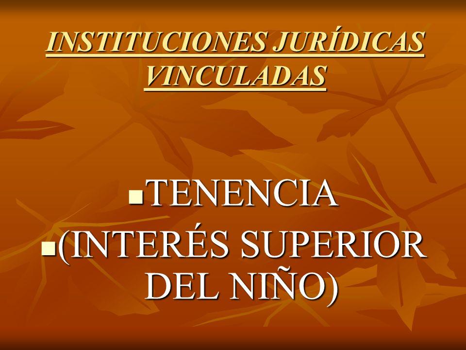 INSTITUCIONES JURÍDICAS VINCULADAS